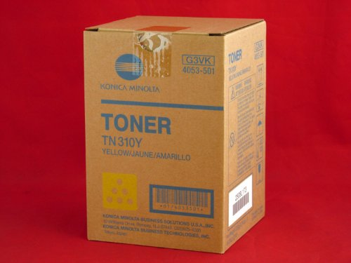 Konica Minolta TN310Y 4053-501 Bizhub 350 C350 C351 C450 Toner Cartridge (Yellow) in Retail Packaging