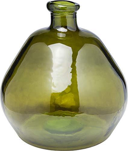 Kare Design Vase Comillas Grün 50 cm, Runde Glasvase in Grün, schlichte Vase als Accessoire für die Wohnung,  (H/B/T) 50x45x45cm