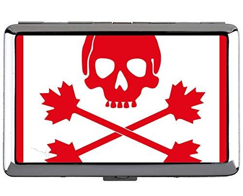 Yanteng Zigarettenetui King Size, Piratenflagge Kanada Namenskartenhalter