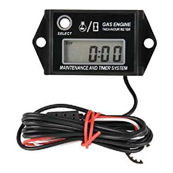 Digital LCD Display Drehzahlmesser Stundenzähler Für Motorrad ATV Boot Motor DE