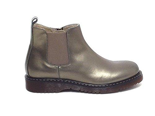 Twin Set Kinder HA78AC, Lederschuhe schwarz Stiefel A7102, Braun - Bronze - Größe: 34 EU