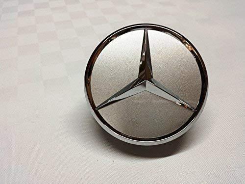 1x Original Mercedes Benz Radzierdeckel Kappe Deckel Nabendeckel Radnabenabdeckung Wheel Cap Radnabendeckel Zierdeckel silber / chrom Stern B66470202 / A2204000125 E-Klasse C-Klasse CL CLS SLK ML GLK A-Klasse B-Klasse W204 W212 W210 W221 W220 C209 W207 W246 Durchmesser: 75mm