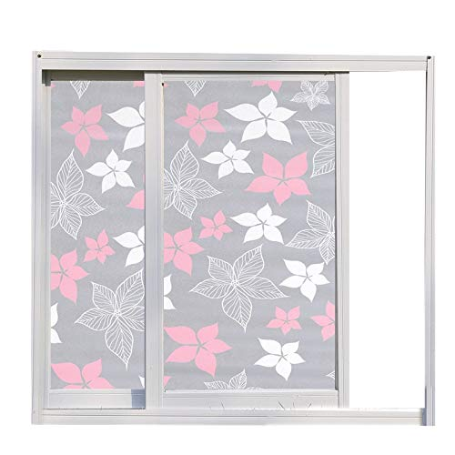 LMKJ Five petal flower moisture-proof UV-proof opaque privacy protection glass film, used for door and window home glass decoration film A6 60x100cm