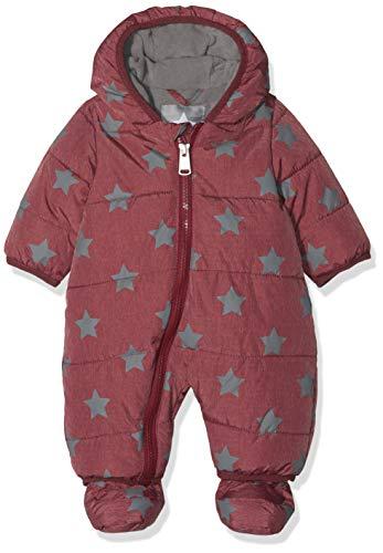 Bellybutton Kids Baby-Unisex Schneeoverall m. Kapuze 1/1 Arm Schneeanzug, Rot (Tibetan Red 2380), 80