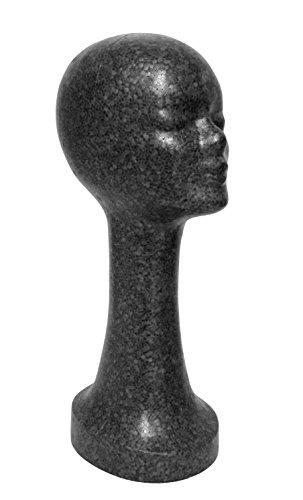 FP - Styroporkopf extra hoch - Farbe nach Wahl - TOP Marken-Qualität aus deutscher Herstellung (schwarz)