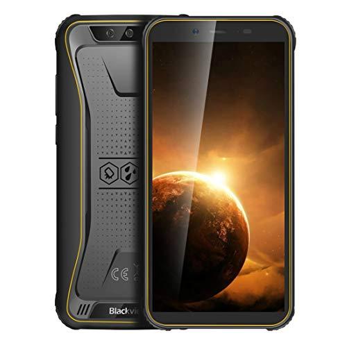 Teléfono inteligente de alta tecnología IP68 a prueba de polvo impermeable a prueba de golpes, Dual Volver Cámaras, Desbloquear la cara, 4400mAh, 5.5 pulgadas Android 10.0 MTK6739 Quad Core de hasta 1