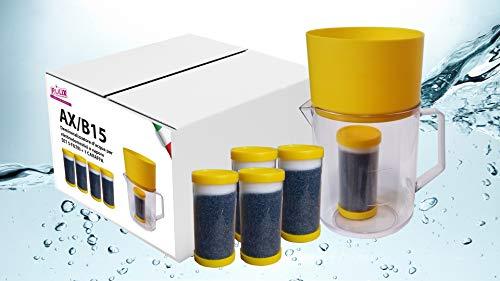Jarra desmineralizadora de agua para sistemas de planchado a vapor con 1 jarra y filtro