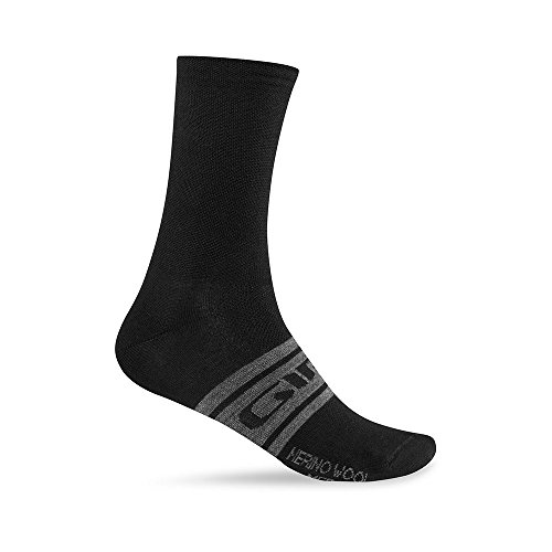 Giro Fahrradsocken Merino Wool Seasonal Socken, Black/Charcoal Clean, L