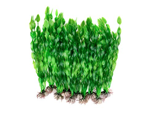 BEGONDIS 10 PCS Artificial Seaweed Water Plants for Aquarium, Plastic Fish Tank Plant Decorations...