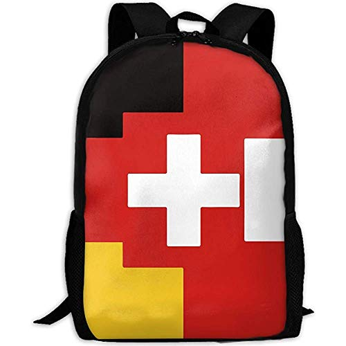 Bandera Alemana austríaca Suiza Bolso de Hombros al Aire Libre Mochila de Tela Mochilas Multiusos
