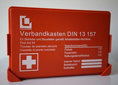 Lüllmann Betriebs Verbandkasten orange Premium Erste Hilfe Koffer DIN 13157 Verbandkasten + Wandhalter 620150SB