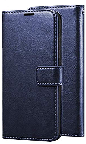 Pinaaki Enterprises Lava Z66 Flip Case   Premium Leather Finish   with Card Pockets   Wallet Stand  Complete Protection Flip Cover for Lava Z66 - Blue