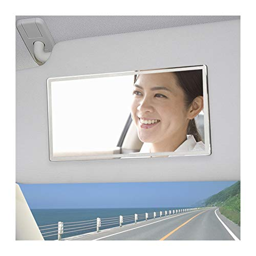 Espejo Retrovisor Interior 2 PCS Coche Interior Espejo Portátil Coche Maquillaje Mirror Auto Sombrilla de Sol Visor HD Espejos Universal Acero inoxidable Espejos Interiores Automóviles