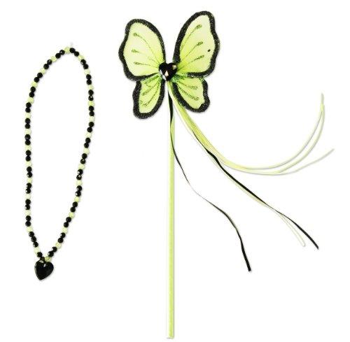 Generique - Baguette et collier de princesse vert