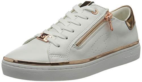 TOM TAILOR Damen 1192603 Sneaker, White, 40 EU