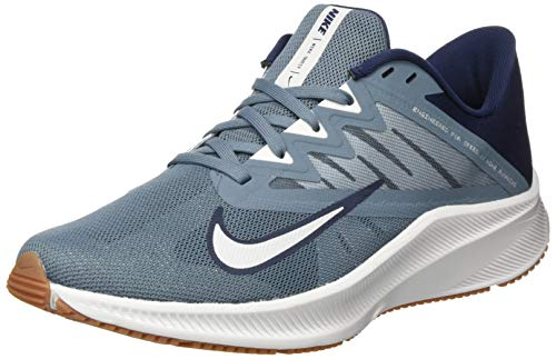 Nike Quest 3, Running Shoe Mens, Ozone Blue/Photon Dust-Obsidian, 42 EU
