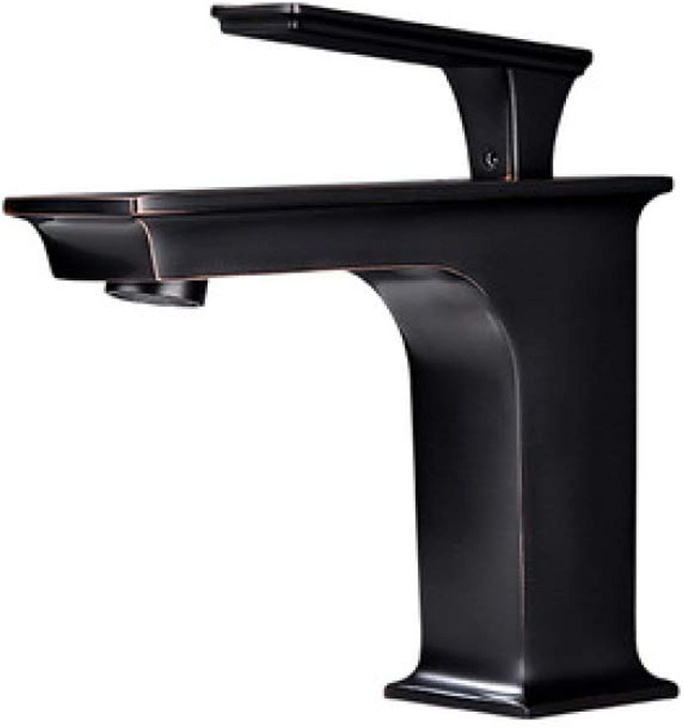 PYIP Water Filter Taps European Style Copper Hot And Cold Washbasin Above Counter Basin Black Bronze Retro Faucet