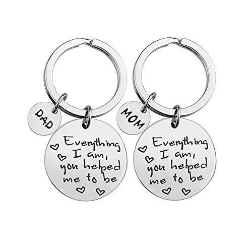 Dad Mom Gifts Keychain Set from Daughter Son, Parents Wedding...