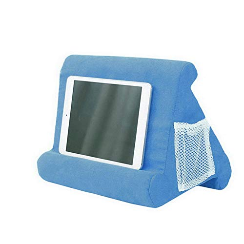 CNCBT Foldable Laptop Stand Holder Tablet Pillow Foam Desk Multi-Purpose Bracket Laptop Cooling Tablet Holder Lap Rest Cushion RoyalBlue