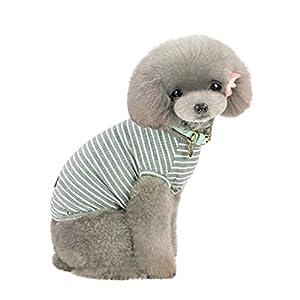 Pet Shirt, Howstar Dog Cat Clothes Puppy Classic Vest Striped T-shirt Pet Summer Apparel (Black, M)