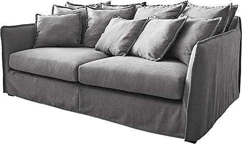 DELIFE Hussensofa Ayla 208x139 cm mit Kissen Couch