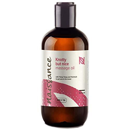 """Naissance """"Knotty but Nice"""" – Sinnliches & Aphrodisisches Massageöl 250 ml 100% natürliche Mischung aus Traubenkernöl und ätherischen Ölen"""