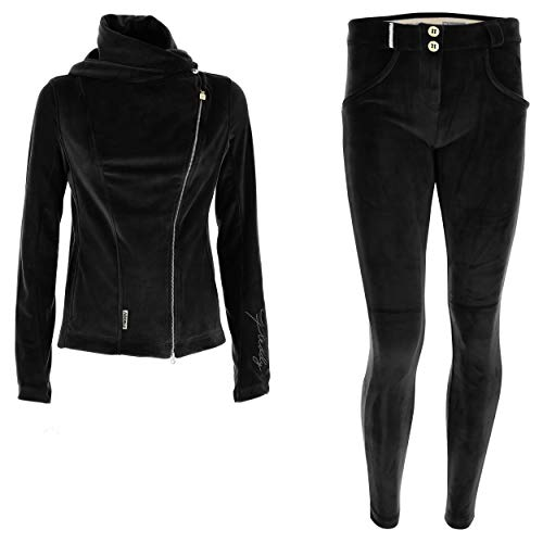 FREDDY Tuta ciniglia WR.UP®-IN top stile chiodo e pantaloni push up - Nero - Medium