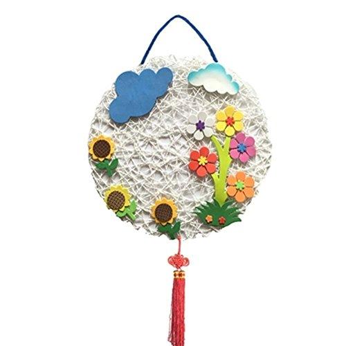 Forme ronde Produit en rotin tressé Cloth Nursery Décor, Fleur et Cloud