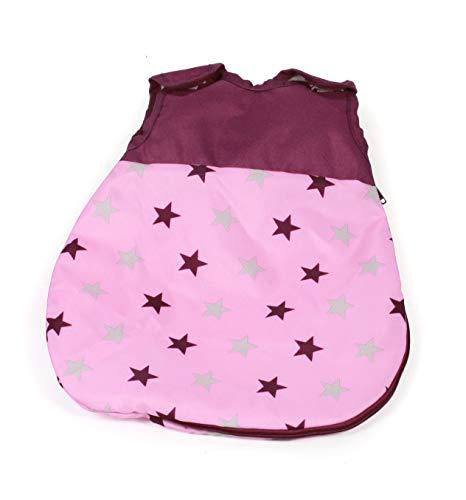 Bayer Chic 2000 794 78 Puppen-Schlafsack Bola, Schlafsack für Babypuppen, Puppen-Kleidung, Puppenzubehör, Stars Brombeere, rosa-pink