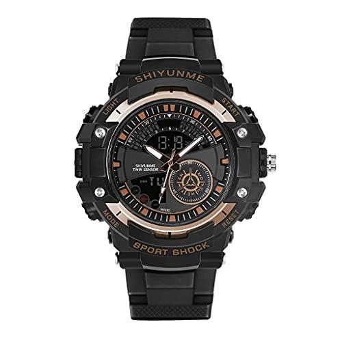 ITCUTE Reloj para hombre de 50 m, resistente al agua, de acero inoxidable, analógico, digital, fecha, cronómetro, alarma, reloj de pulsera al aire libre