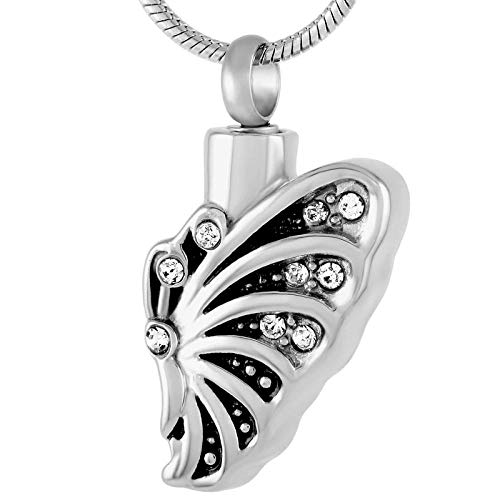 QEQEQE Urn Necklaces for Ashes Always in My Heart Cremation Jewelry Memorial Pendant Necklace