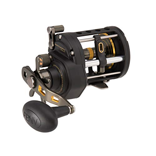 "Penn 1481307 Fathom Ii Level Wind Saltwater Casting Reel, 20, 5.1 Gear Ratio, 30"" Retrieve Rate, 5 Bearings, 30 lb Max Drag, Right Hand"