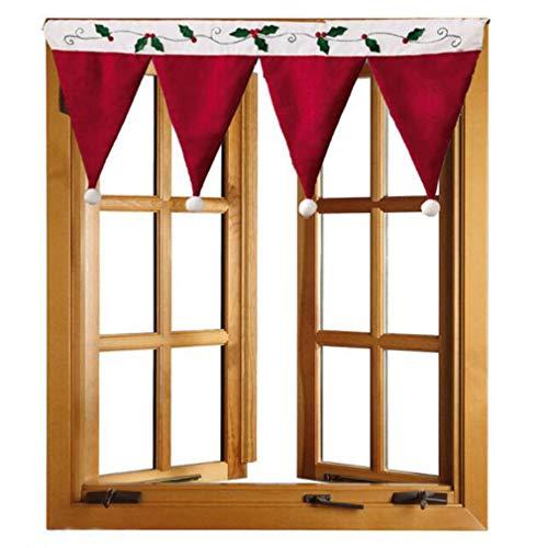 WEIHEEE-Weihnachtsvorhang-Dreieck verziert drapierte Vorhang-Innenhauptdekoration für Weihnachten Halloween