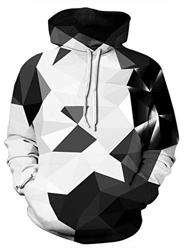 NEWISTAR Herren Damen 3D Druck Kapuzenpullover Cartoon Sweatshirt Langarm Pullover Pulli Hoodie 4XL