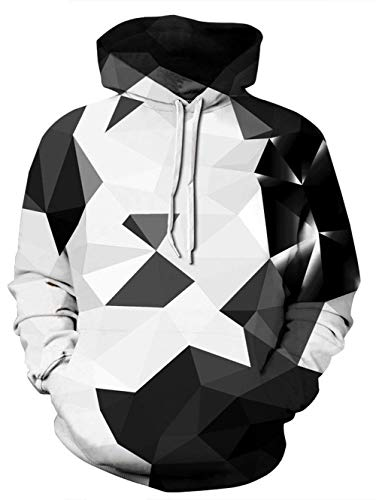 NEWISTAR Herren Damen 3D Druck Kapuzenpullover Cartoon Sweatshirt Langarm Pullover Pulli Hoodie 3XL