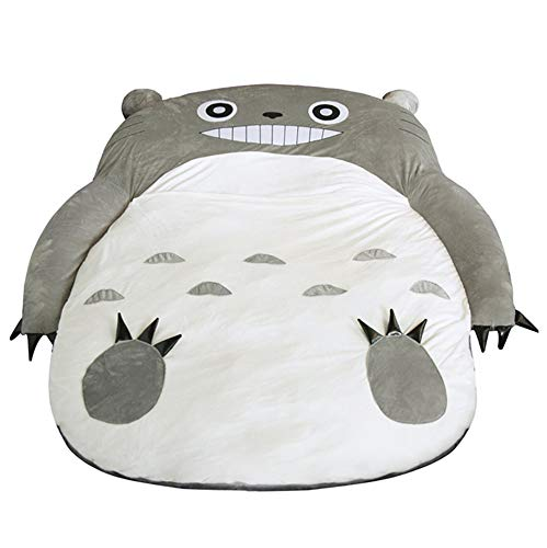 VIVICL Totoro Tatami Mattress PP Cotton Sleeping Cartoon Foldable Tatami Lazy Plush Sleeping pad Cute Sleeping Bag Kids Sofa Bed,A,80 * 130cm