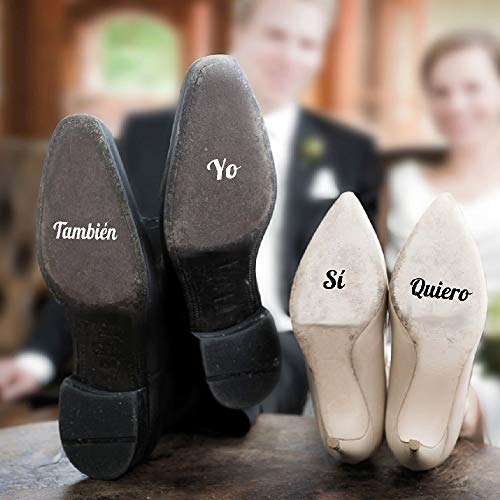 Pegatinas para Zapatos de Boda Sí Quiero Yo También
