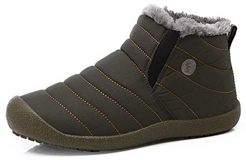 Eagsouni Eagsouni Herren Damen Winterschuhe Warm Gefüttert Schneestiefel Winter Schuhe Outdoor Boots Winterstiefel rutschfest Kurzschaft Stiefel