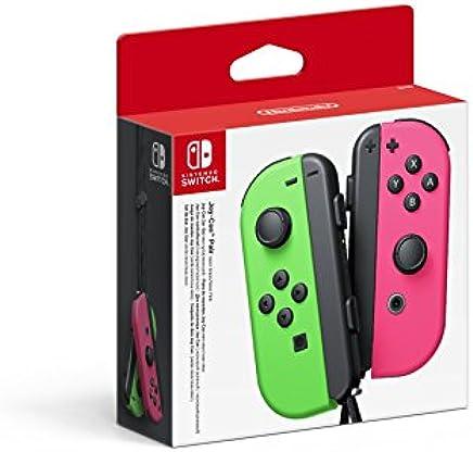 Nintendo Switch Paire de manettes Joy-Con gauche vert néon & droite rose néon