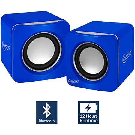 Arctic S111 Bt Tragbare Lautsprecher Mit Usb Anschluss Mini Speaker Mit überzeugender Klangqualität Für Desktop Pc Bis Zu 12h Akkulaufzeit Kompaktes Design Blau Audio Hifi