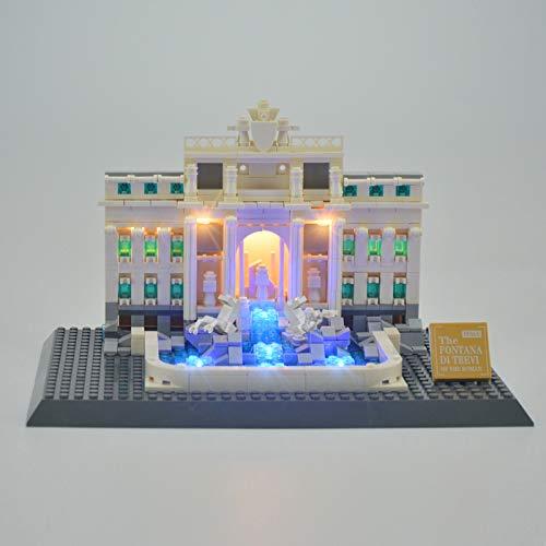 RTMX&kk USB Juego de Luces de para (Arquitectura Fontana de Trevi), Kit de Luces Compatible con Lego 21020 Modelo de Bloques de Construcción (NO Incluido en el Modelo)