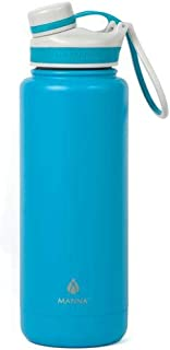 Ranger Pro 40 oz. Double Wall Stainless Steel Bottle in Teal - Sweat Resistant and Leak-Proof, BPA and Lead-Free, Dual Opening