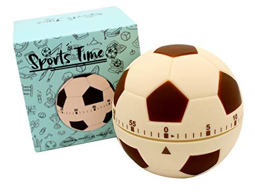 Ranvi süsser Ball Timer, Mini 55 Minuten, für Zeitmanagement, Küchentimer, Kindertimer, Trainingstimer(gelber Fußball)