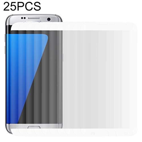 N/A gehard glas film 25 PCS voor gehard glas film S7 Edge / G935 0.26mm 9H Oppervlaktehardheid Gebogen Oppervlak Niet-volledige scherm gehard glas film (zwart) (Kleur : wit)