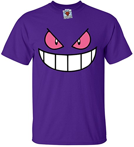 Reality Glitch Herren Ghost Face T-Shirt (Lila, X-Large)
