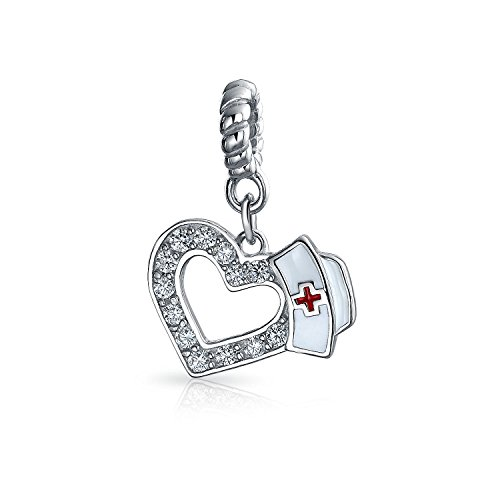 Caduceo Rn Enfermera Hat Forma Corazón...