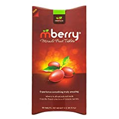 MBERRY MIRACLE FRUIT TABLET - The new indulgence is practically magic! Turn sour food sweet by inhibiting your taste receptors. Truly transform foods you never thought could be so sweet and delicious. PERFECT FOR - Explore the many ways to use mberry...