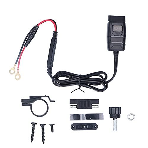 Accesorios de motocicleta Kit de adaptador de cargador USB dual para motocicleta Cargador de teléfono móvil para automóvil con interruptor Impermeable Qc3.0 Cargador de teléfono móvil Voltímetro medid