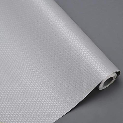 Bloss Shelf Liner, Non-Slip Kitchen Cabinet Liners, Washable Refrigerator Liners with Waterproof Durable Fridge Liner Drawer Mat for Cupboard, Pantry Shelves, Bathroom - Dots Grey, 11.8x59''/30x150cm