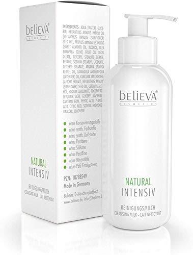 Believa Natural Intensiv - Extra milde Reinigungsmilch für empfindliche Haut - Reinigt und Pflegt die Haut - 250 ml